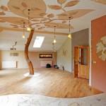 Prezentační místnost hliněných omítek