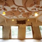 Hliněné omítky — prezentační místnost