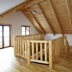 Podkroví moderní dřevostavby