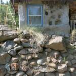 Zadní část recyklovaného domu