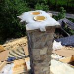 Kamenný obklad komína