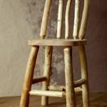 Roubená stolička s náběhy
