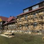 Probíhající rekonstrukce horského hotelu