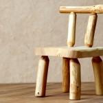 Dětská roubená židlička