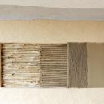 Aplikace hlíny na OSB desku