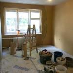Realizace hliněných omítek v bytě