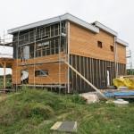 Horizontální fasáda ze dřeva